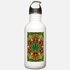 marijuana-mandala-fina Sports Water Bottle
