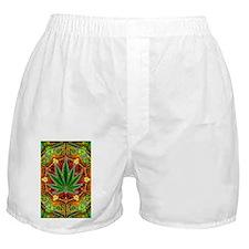 marijuana-mandala-final -sm Boxer Shorts