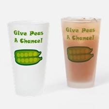 Give Peas A Chance Green Drinking Glass