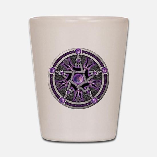Purple Moon Pentacle Shot Glass