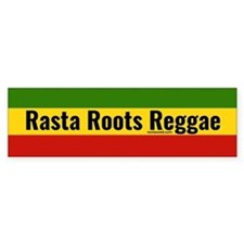 Rasta Gear Shop Rasta Roots Reggae Bumper Car Sticker