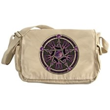 Purple Moon Pentacle Messenger Bag