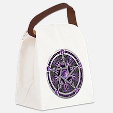 Purple Moon Pentacle Canvas Lunch Bag