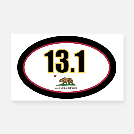 CALIFORNIA-131-OVALsticker Rectangle Car Magnet