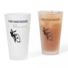 Velo_tout-terrain_wht Drinking Glass
