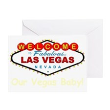 ss black 1 red lv sign vegas baby co Greeting Card