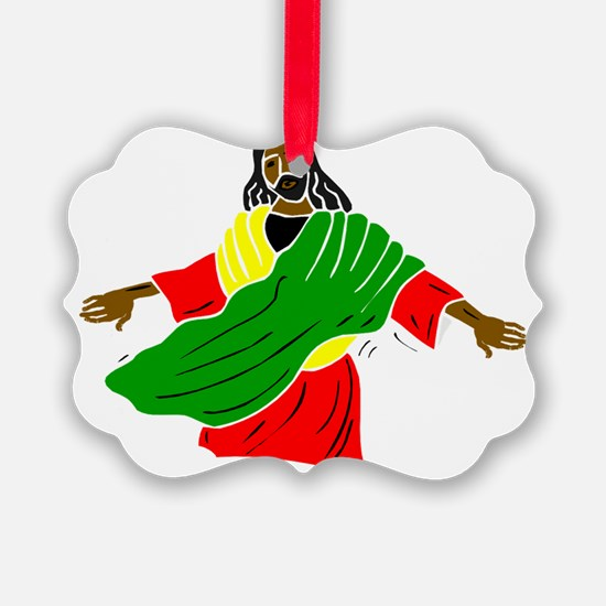 Black Jesus Ornament
