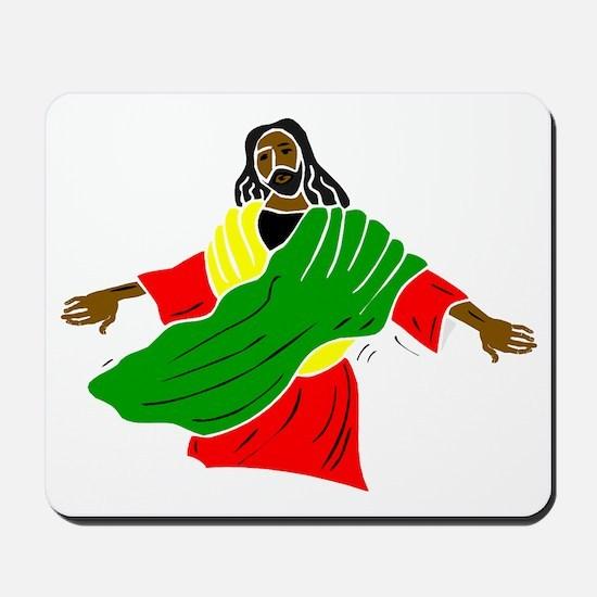 Black Jesus Mousepad