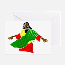 Black Jesus Greeting Card