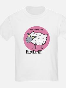 The Sheep Says Baa Kids T-Shirt