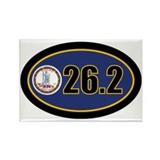 Virginia-262-OVALsticker Rectangle Magnet
