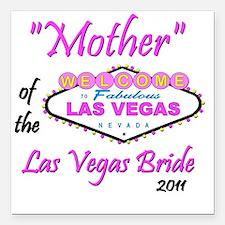 "mother of bride pristina Square Car Magnet 3"" x 3"""