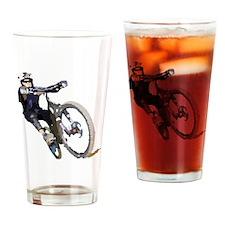 Velo_tout-terrain_front_wht Drinking Glass