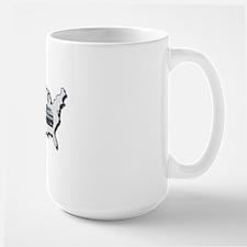 AS_325_345_MH_USA_map_Road_Trip_BLUE_ou Large Mug