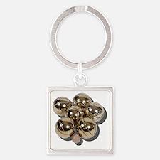 BocceBalls030111 Square Keychain