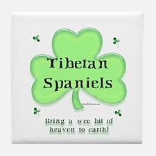 Tibetan Spaniel Heaven Tile Coaster