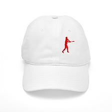 baseball evo white red Baseball Cap