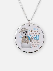 Leon Snowman Elf Quote Necklace