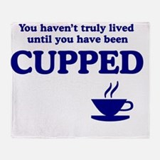 Cupped-I Throw Blanket