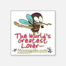 "Moongeeks [Mosquito Bandito Square Sticker 3"" x 3"""