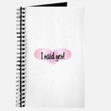I Said Yes! - Pink Heart Journal
