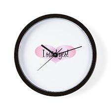 I Said Yes! - Pink Heart Wall Clock