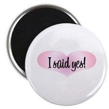 "I Said Yes! - Pink Heart 2.25"" Magnet (10 pack)"