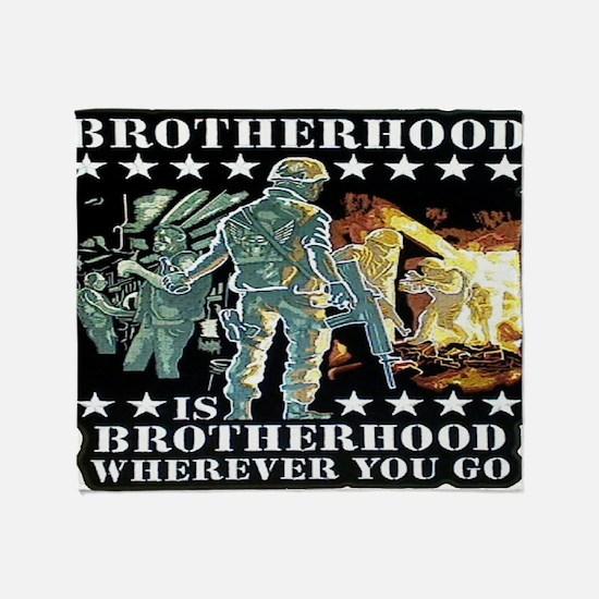 brotherhood Throw Blanket