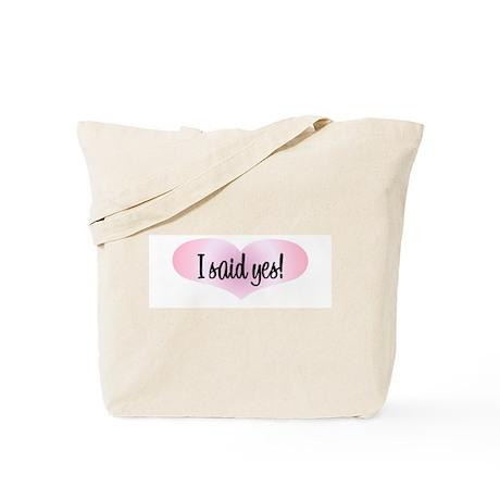 I Said Yes! - Pink Heart Tote Bag