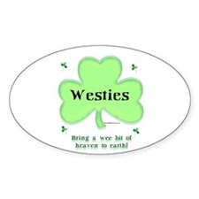Westie Heaven Oval Decal