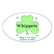 Whippet Heaven Oval Decal