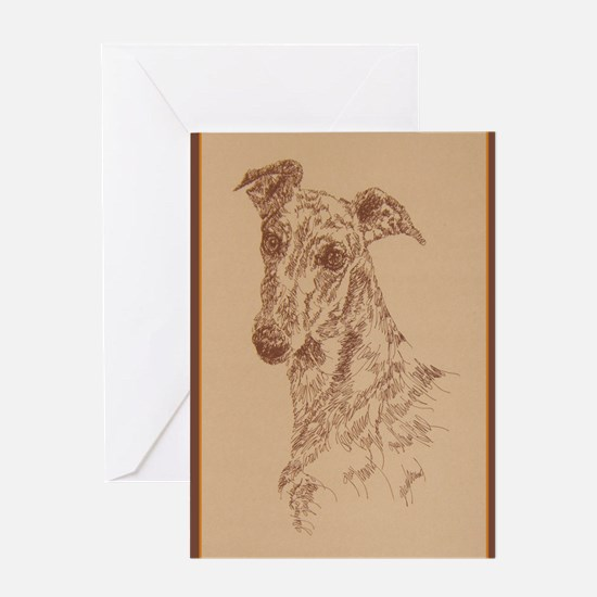 Greyhound_Fawn_KlineX Greeting Card