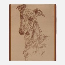 Greyhound_Fawn_KlineX Throw Blanket