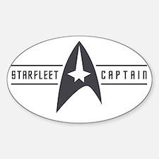 starfleetcaptain02 Sticker (Oval)