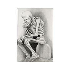 Day of the Dead Thinker Rectangle Magnet