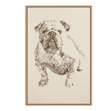 English_Bulldog_KlineYY Postcards (Package of 8)