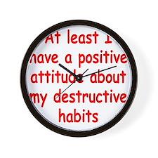 destructive-habits2 Wall Clock