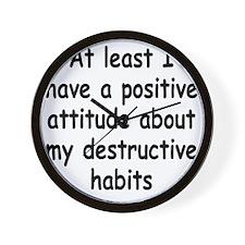 destructive-habits3 Wall Clock