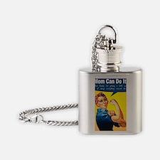 RosieRiveterMom Flask Necklace