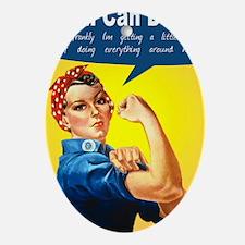 RosieRiveterMom Oval Ornament
