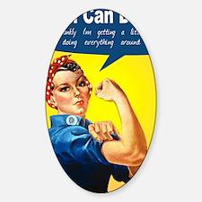 RosieRiveterMom Sticker (Oval)