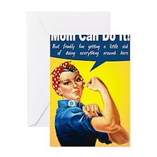RosieRiveterMom Greeting Card