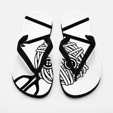 PirateCrochet06_black Flip Flops