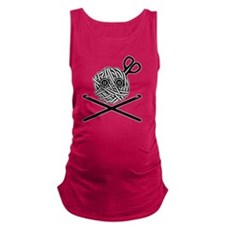 PirateCrochet06_black Maternity Tank Top