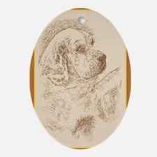 Clumber_Spaniel_KlineY Oval Ornament