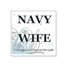 "navywifestars Square Sticker 3"" x 3"""