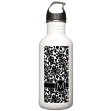 Damask with M Monogram Water Bottle