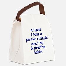 destructive-habits_rnd1 Canvas Lunch Bag