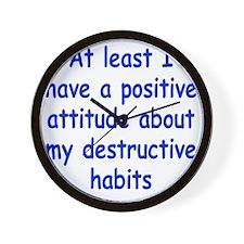 destructive-habits1 Wall Clock