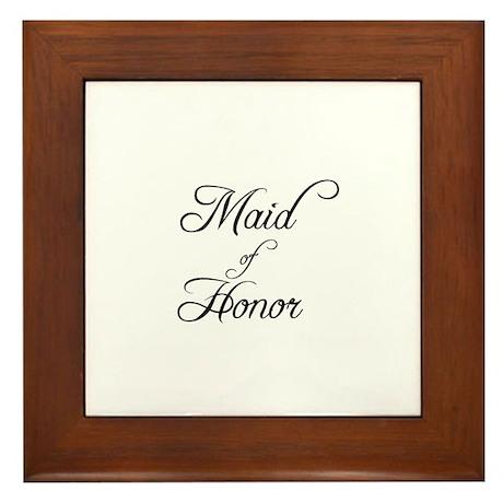 Maid Of Honor - Formal Framed Tile